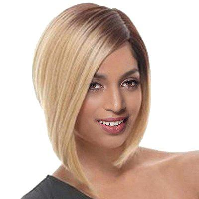 Short Side Parting Straight Ombre Bob Synthetic Wig