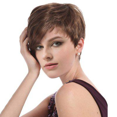 Short Side Bang Capless Layered Straight Synthetic Wig