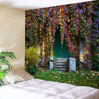 Old House with Vines Print Wall Decor Tapestry