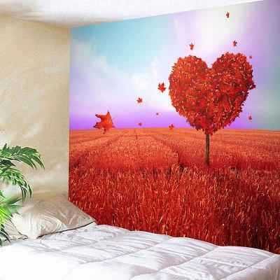 Valentine's Day Love Heart Tree Print Novelty Wall Tapestry