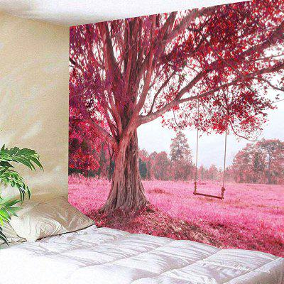 Tree and Swing Print Wall Hanging Tapestry