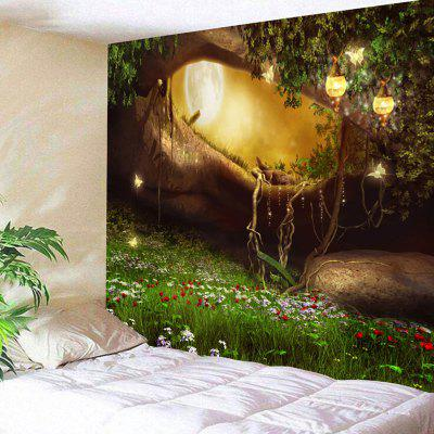 Fantasy Forest Hole Pattern Wall Hanging Tapestry