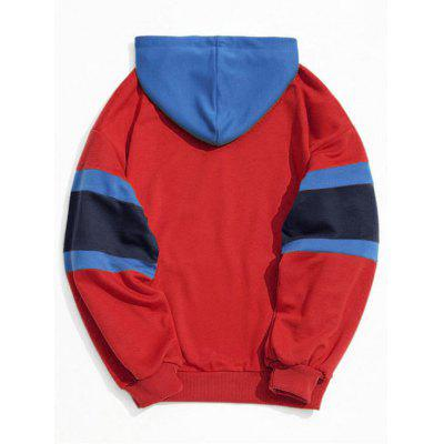 Color Block Kangaroo Pocket Mens Hoodie ремень stilmark 1732442