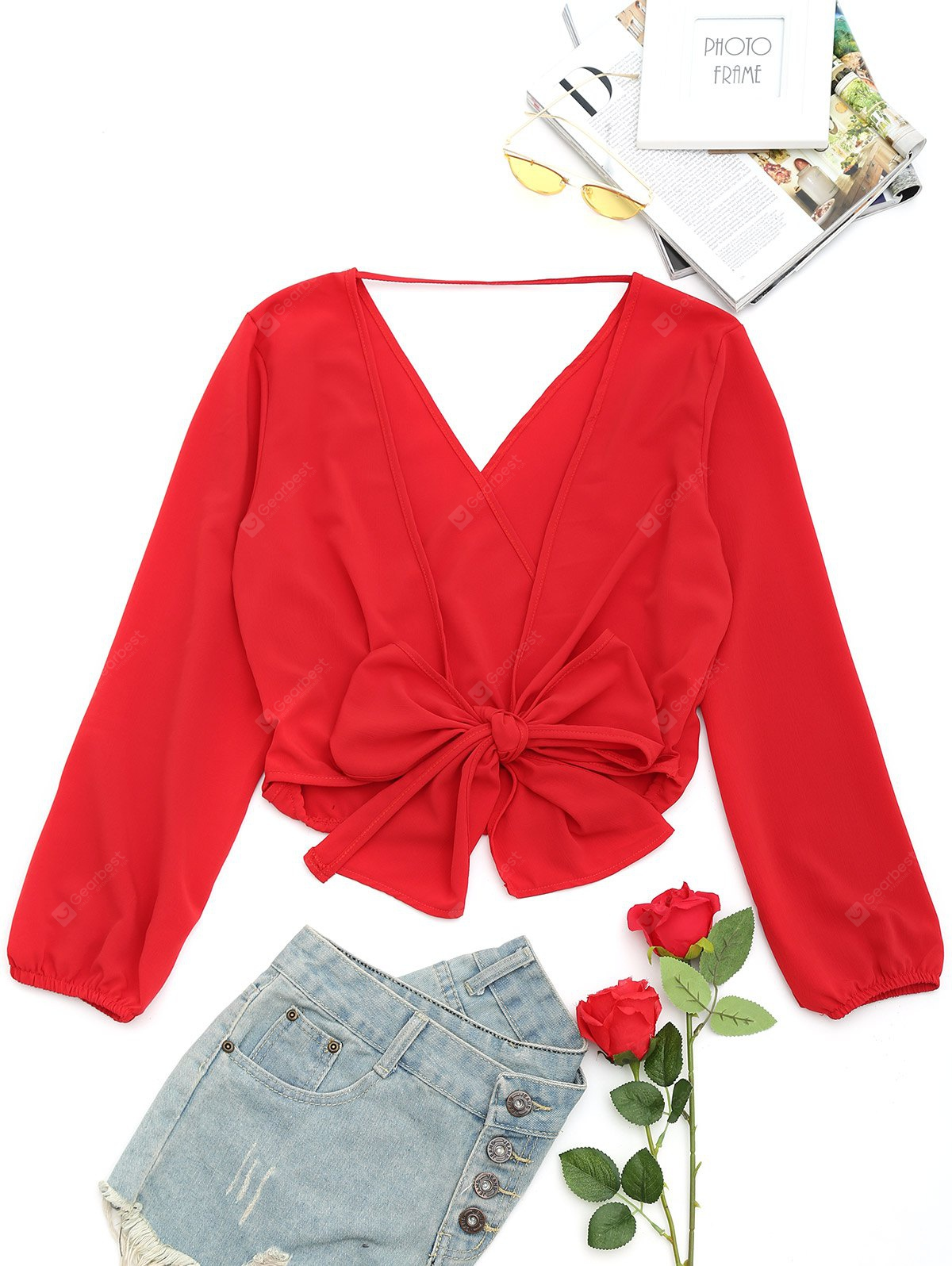 DEEP RED, Apparel, Women's Clothing, Blouses