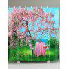 Flower Tree Table Print Waterproof Fabric Shower Curtain - COLORMIX