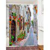 Brick House Alley Print Waterproof Fabric Shower Curtain - COLORMIX
