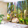 Nature Animal Printed Wall Decor Hanging Tapestry - GREEN