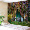 Old House with Vines Print Wall Decor Tapestry - COLORMIX