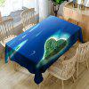 Heart Islands Print Microfiber Waterproof Table Cloth - BLUE