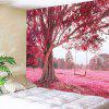Tree and Swing Print Wall Hanging Tapestry - PINK