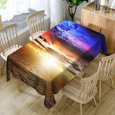 Tissu de table imperméable en microfibre de Sunset