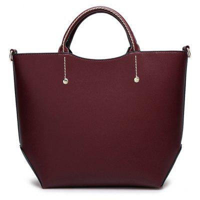Faux Leather Rivet Stitching Letter HandbagHandbags<br>Faux Leather Rivet Stitching Letter Handbag<br><br>Closure Type: Zipper<br>Gender: For Women<br>Handbag Size: Medium(30-50cm)<br>Handbag Type: Totes<br>Main Material: PU<br>Occasion: Versatile<br>Package Contents: 1 x Handbag<br>Pattern Type: Letter<br>Size(CM)(L*W*H): 37*12*28CM<br>Style: Fashion<br>Weight: 1.2000kg