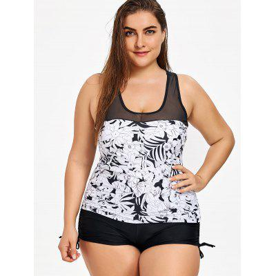 Flowers Print Plus Size Racerback Tankini SetPlus Size<br>Flowers Print Plus Size Racerback Tankini Set<br><br>Bra Style: Padded<br>Embellishment: Mesh<br>Gender: For Women<br>Material: Nylon, Spandex<br>Package Contents: 1 x Top  1 x Bottom<br>Pattern Type: Floral<br>Support Type: Wire Free<br>Swimwear Type: Tankini<br>Waist: Natural<br>Weight: 0.3600kg