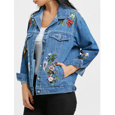 Embroidery Floral Denim Jacket