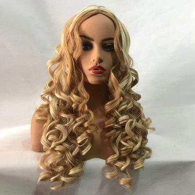 Long Middle Part Colormix Fluffy Body Wave Synthetic Wig
