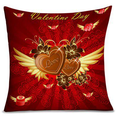 Valentine's Day Heart with Wing Print Pillowcase