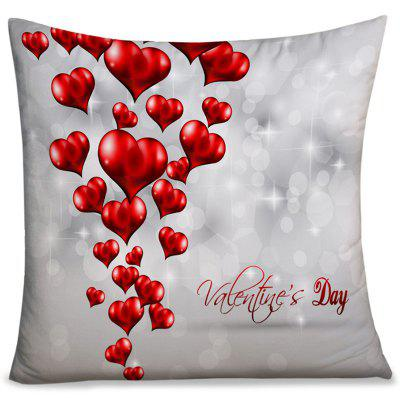Valentine's Day Love Hearts Print Throw Pillow Case