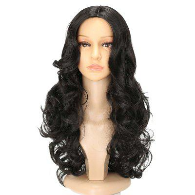 Long Center Parting Wavy Capless Synthetic Wig