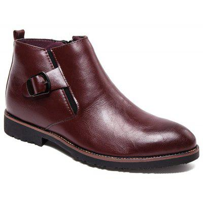 Buckled Pointed Toe Chukka Boots
