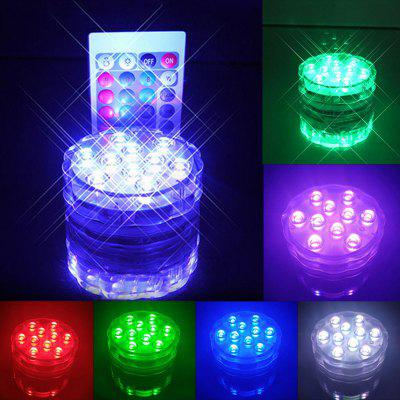 Waterproof Remote Control Color Change LED Lights Cup Coaster