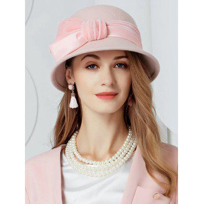Vintage Ribbon Knot Embellished Ladies Hat