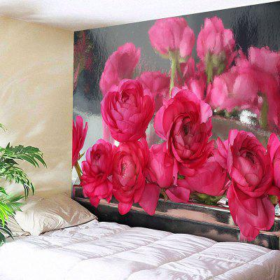 Wall Hanging Rose Flowers Pattern Tapestry