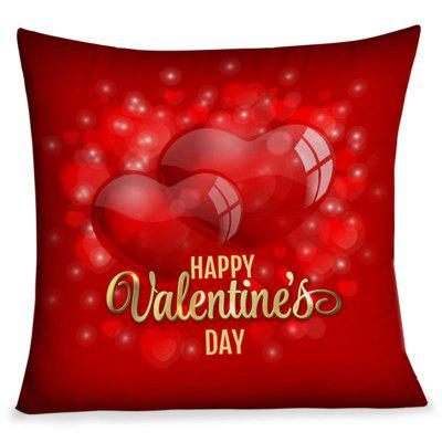 Taie d'oreiller carrée Happy Hearts Valentine's Day