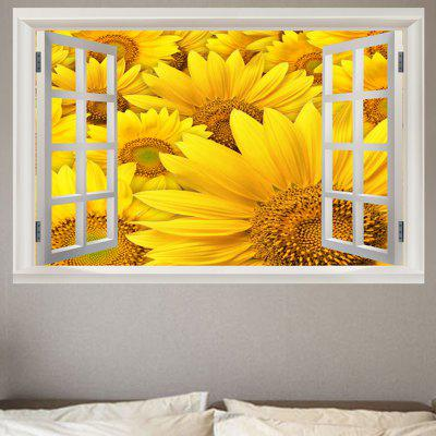 Sunflower Window View Removable Wall Sticker