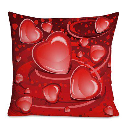 Valentine's Day Love Heart Print Square Pillow Case