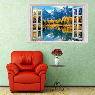Snow Mountain Lake Window View Removable Wall Sticker газовая колонка roda jsd20 a5 atmo snow mountain ут000010056