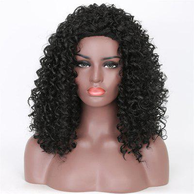 Long Shaggy Afro Kinky Curly Synthetic Wig high quality noble synthetic kinky curly