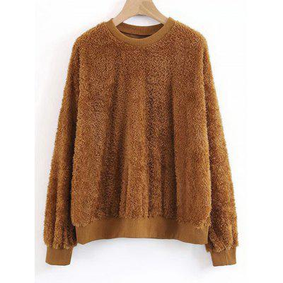 Textured Shearling Sweatshirt