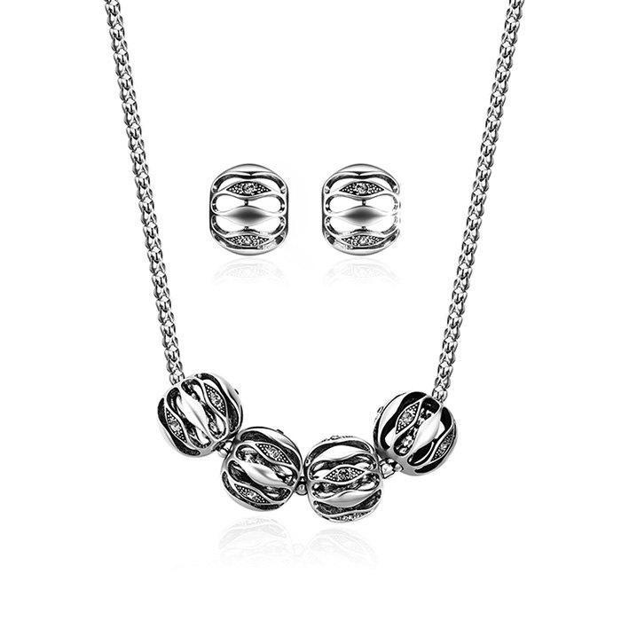 Simple Alloy Necklace and Earring Set