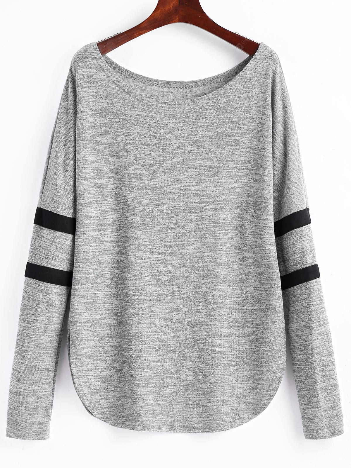 Striped Marled Long Sleeve Tee