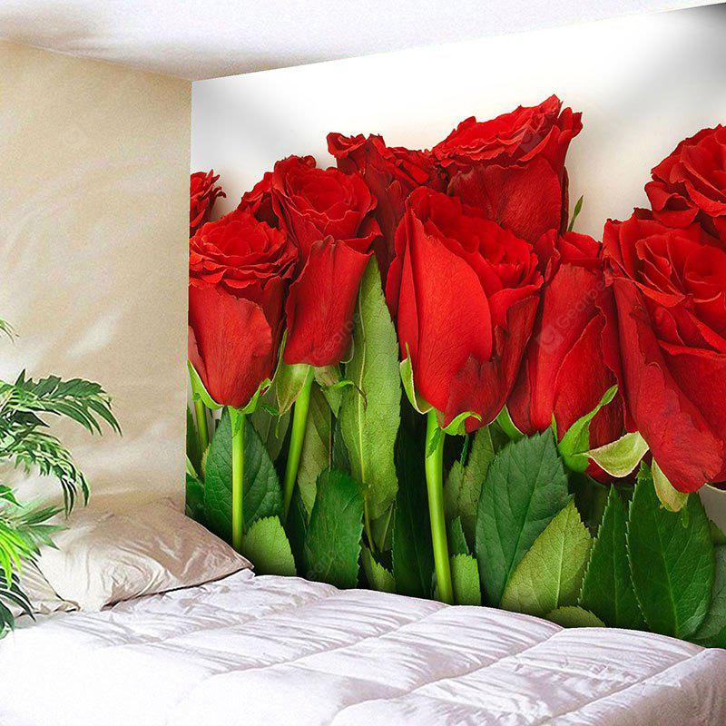Valentine's Day Wall Hanging Rose Flowers Print Tapestry