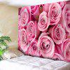 Valentine's Day Rose Flowers Print Wall Hanging Tapestry - PINK