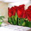 Valentine's Day Wall Hanging Rose Flowers Print Tapestry - COLORMIX