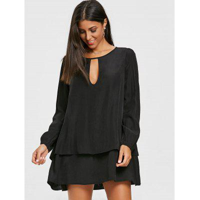 Layered Front Cut Out Long Sleeve DressWomens Dresses<br>Layered Front Cut Out Long Sleeve Dress<br><br>Dresses Length: Mini<br>Embellishment: Cut Out<br>Material: Cotton, Polyester<br>Neckline: Boat Neck<br>Occasion: Casual<br>Package Contents: 1 x Dress<br>Pattern Type: Solid Color<br>Season: Fall, Spring<br>Silhouette: A-Line<br>Sleeve Length: Long Sleeves<br>Style: Brief<br>Weight: 0.3000kg<br>With Belt: No