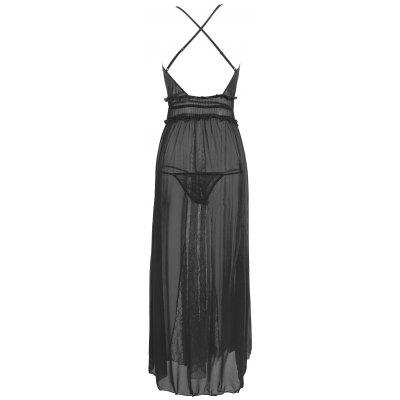 Lace Insert Mesh Long Slip DressLingerie &amp; Shapewear<br>Lace Insert Mesh Long Slip Dress<br><br>Embellishment: Criss-Cross,Lace<br>Material: Nylon, Spandex<br>Package Contents: 1 x Dress  1 x T Back<br>Pattern Type: Solid<br>Weight: 0.3000kg