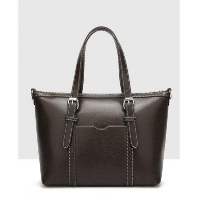 Stitching PU Leather Buckle Strap HandbagHandbags<br>Stitching PU Leather Buckle Strap Handbag<br><br>Closure Type: Zipper<br>Gender: For Women<br>Handbag Size: Small(20-30cm)<br>Handbag Type: Totes<br>Main Material: PU<br>Occasion: Versatile<br>Package Contents: 1 x Handbag<br>Pattern Type: Solid<br>Size(CM)(L*W*H): 30*13*24CM<br>Style: Fashion<br>Weight: 0.8000kg