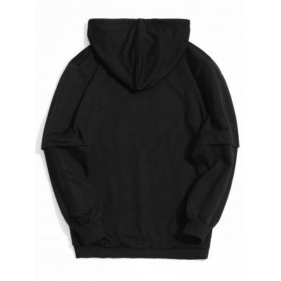 Kangaroo Pocket Raw Hem HoodieMens Hoodies &amp; Sweatshirts<br>Kangaroo Pocket Raw Hem Hoodie<br><br>Material: Cotton, Polyester<br>Package Contents: 1 x Hoodie<br>Pattern Type: Solid<br>Shirt Length: Regular<br>Sleeve Length: Full<br>Style: Casual<br>Weight: 0.5300kg