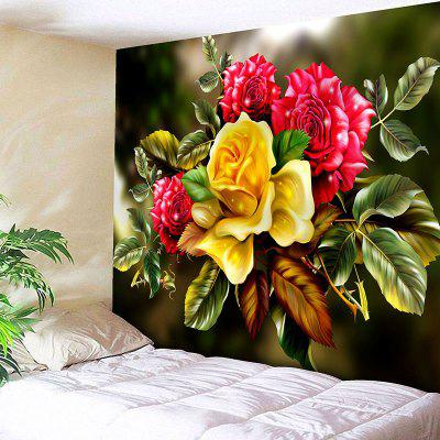 Flower Print Wall Hanging Tapestry