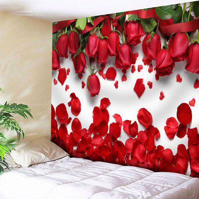 Valentine's Day Roses Pattern Wall Hanging Tapestry