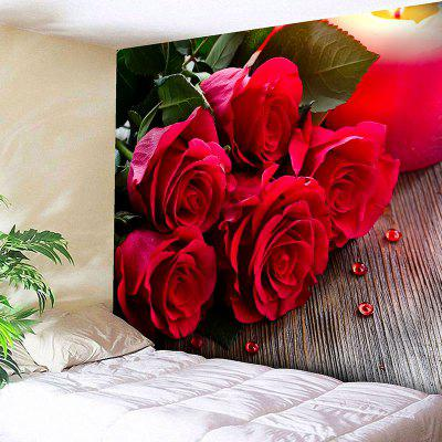 Wall Hanging Valentine's Day Rose Flowers Tapestry