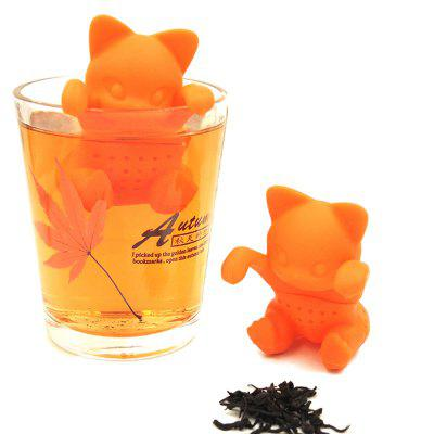 Silicone Little Cat Shape Tea Infuser Strainer
