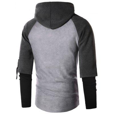 Faux Twinset Suede Panel Drawstring Pullover HoodieMens Hoodies &amp; Sweatshirts<br>Faux Twinset Suede Panel Drawstring Pullover Hoodie<br><br>Clothes Type: Hoodie<br>Material: Polyester, Spandex<br>Occasion: Going Out, Daily Use, Casual<br>Package Contents: 1 x Hoodie<br>Patterns: Color Block<br>Shirt Length: Regular<br>Sleeve Length: Full<br>Style: Fashion<br>Thickness: Regular<br>Weight: 0.6500kg