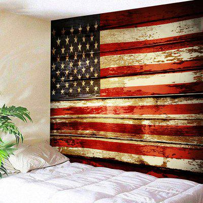 Grainy  US Flag Printed Wall Hanging Tapestry
