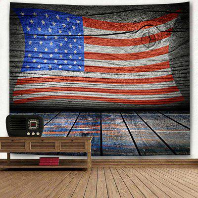 American Flag Print Wall TapestryBlankets &amp; Throws<br>American Flag Print Wall Tapestry<br><br>Material: Polyester<br>Package Contents: 1 x Tapestry<br>Shape/Pattern: Star,Striped<br>Style: Fashion<br>Weight: 0.3600kg