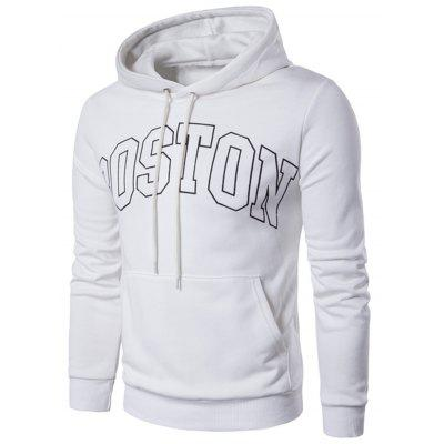 Pouch Pocket Graphic Print Pullover Hoodie