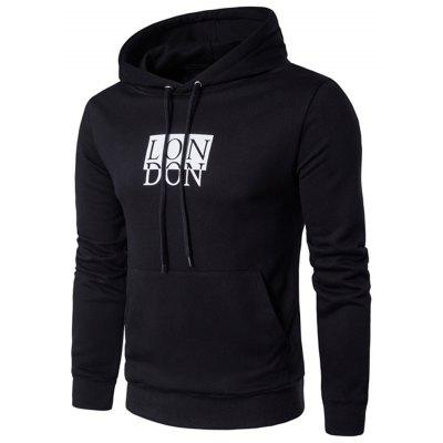 Hooded Drawstring Graphic Print Pullover Hoodie